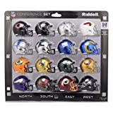 NFL Speed Pocket NFC Football Set 16 x Mini Helme 5cm