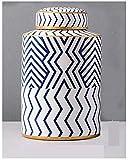 SCJ Keramikvase Arbeitsplatte Trockenvase Dekoration Wohnzimmer Zuhause Vase Ornament (Größe: 17cm...