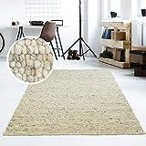 Taracarpet Moderner Handweb Teppich Alpina handgewebt aus Schurwolle fr Wohnzimmer, Esszimmer,...