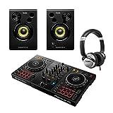 Pioneer DDJ400 2Ch DJ-Controller mit Monitoren und Kopfhörern