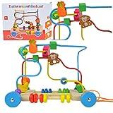 2-5 Tage Liefer,Motorikwürfel Motorikschleife Holzspielzeug mit 3 Farbspuren Motorikspielzeug...