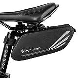 Fahrrad Satteltasche, Wasserdicht Fahrrad Aufbewahrungstasche mit reflektierenden Streifen, Großer...