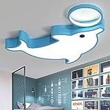 LED-Deckenlampe für Kinderzimmer, Motiv: Delfin, Acryl, modern, kreativ, Cartoon, für Jungen und...