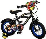 E&L Cycles Kinderfahrrad Batman 12 Zoll | 2 Felgenbremsen Abnehmbare Stützräder