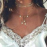 Metall Gold Multi Star Anhnger Halskette Frauen Perlen Schlsselbein Kette Armband Bhmische Mode...