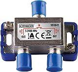 SCHWAIGER -9482- SAT-Verteiler 2-Fach digital/BK-Verteiler / 2-Wege Verteiler mit...