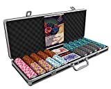 Bullets Playing Cards - Großer Pokerkoffer Deluxe Pokerset mit 500 Clay Pokerchips Carmela,...