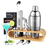YISSVIC Cocktail Shaker Set Cocktail Mixer 10-teiliges Cocktail Bar Edelstahl Cocktailset 750ml für...