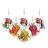 20 Stücke Klar Weihnachtskugeln, 80mm Weihnachtsschmuck Ball, DIY Kunststoff Füllbare...