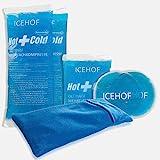 ICEHOF Kühlpads (5x) mit Vlies-Hülle - Kuschelweich, lange Kühldauer, verschiedene Größen...