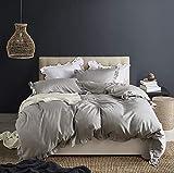 N/C ELEH Rüschen Grau Bettwäsche Set 3 Teilig(1 Bettbezug + 2 Kissenbezug) Mädchen 100%...