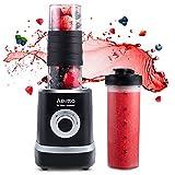 Mixer Smoothie Maker, Aeitto Mini Mixer Blender 500W, Mini Standmixer mit 2 X 520ml Reise Sport...