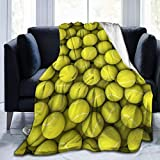 NE berwurf-Decke, gelbe Tennisblle, ultraweich, Mikrofleece, 203,2 x 152,4 cm, warme Decke fr...