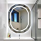 Spiegel 600 MM * 800 MM Rahmenlose Oval Badezimmerspiegel Wc Wandbehang Wand LED Smart Defog...