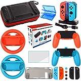 Nintendo Switch Zubehör Set - Tragetasche Hülle Displayschutzfolie für Nintendo Switch konsole -...