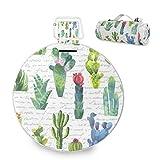 Große Picknickdecke mit Kaktus-Aquarell-Pflanze, wasserdicht, praktische Picknickmatte für...