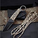 ideaselection Outdoor schwarz Survival Messer Camping Seil edstahl feststehende Klinge Messer...
