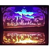 Kreatives Kunstdruckpapier, Das Lampe 3D Schnitzt Nachtlicht...