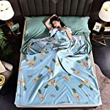 ZYZYZY Ultralight Schlafsack Liner Kompakte Seide Schlafsack Mit Zusätzlichem Kissenfach Erwachsene...