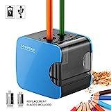 AOBETAK Elektrischer Anspitzer mit Behälter,USB und Batterie Betrieben Bleistiftspitzer,Spitzer...