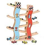 flower205 Auto Rennbahn Holz Spielzeug Race Track Set Sicheres Pädagogisches Auto Spielzeug Kit...