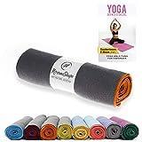 NirvanaShape Yoga Handtuch rutschfest | Hot Yoga Towel mit Antirutsch-Noppen | hygienische...