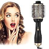 VCXZ One Step Hair Dryer Brush Volumizer 2 in 1 Lockenwickler und Haarglätter Glatte Frizz Negative...