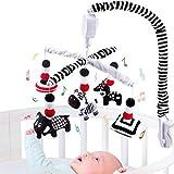 teytoy Montessori Mobile Baby-Krippe, Schwarz & Weiß Mobile für Krippe mit Timing-Funktion, hoher...