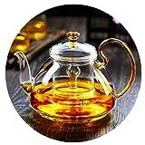 Teekannen Hitzebeständige Glas Verdickte Wasserkocher Transparent Großvolumige Großvolumige...
