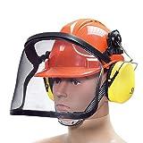 BITUXX® Forstschutzhelm Arbeitsschutzhelm Sicherheitshelm Helm Bauhelm Schutzhelm mit Visier...