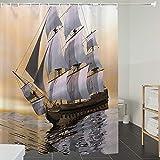 Derun Duschvorhänge, Textil Bad Vorhang aus Polyester, Anti-Schimmel, Zuckerstange, Illustration...