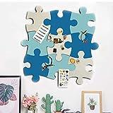 Korktafel-Fliesen, Filz-Pinnwand, Puzzle-Form, Pinnwand mit selbstklebender Pinnwand für...