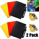 jeeri 2 Pack Schiedsrichter Set Fussball Sport Schiedsrichter Karten Set Rote Karte Gelbe Karte mit...