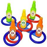 Carnival Ring Toss Game Set mit Bonus Balloon Popping Dart Game, Outdoor-Spielen für Kinder und...