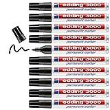 edding 3000 Permanent-Marker schwarz, 10er Pack