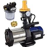 Agora-Tec® AT-Hauswasserwerk-5-1300-3DW-1L, 5 stufige Kreiselpumpe mit max: 5,6 bar und max:...