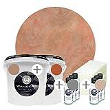 Wanders24 Venezia Stein-Optik (6 Liter, Rosso Komplettset) Farbe zum Spachteln, 4 Sets erhältlich,...