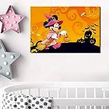 pcrcp Halloween Wandkunst Leinwand Poster Malerei Öl Wandbilder Für Kindergarten Kinderzimmer...