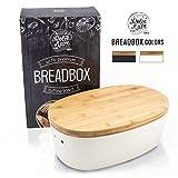 DOLCE MARE Bambus Brotbox - Hbscher Brotkasten - extrem praktischer Brottopf - Ausgefallener...
