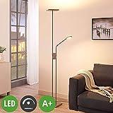 Lampenwelt LED Stehlampe 'Jonne' dimmbar (Modern) in Alu aus Metall u.a. für Wohnzimmer & Esszimmer...