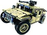 ZJ Dauerhaft Bauklötzen Fernsteuerung Spielzeug, 502 Stück Tank Car Kit mit USB aufladbare...