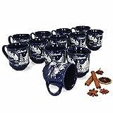 HUIJK 12 Glühweinbecher blau 0,2L geeicht Glühweintassen Tassen Becher Weihnachten