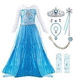 KABETY Mädchen Prinzessin Anna Kleid Schnee königin ELSA Kostüm Party Kleid,5 Jahre (Hersteller...