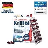 ForteVital Krill l 500mg Premium mit Omega 3 - Omega 6 - Omega 9 - 60 Kapseln (Krilll) mit 21 mg...