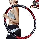 YZBBSH Hula Hoop Reifen Erwachsene 1,2 kg - 4kg Einstellbar Weighted Hoola Hoop Reifen Erwachsene 6...