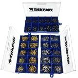 THKFISH Angeln Haken,1500Stck Schwarz-Silber-Bronze #3~12 Angelhaken Angelhaken Box Set Kamm
