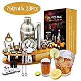 AYAOQIANG Cocktail Shaker Geschenk Edelstahl 23 Teiliges Cocktail Set Bar Zubehör Cocktailset 750...