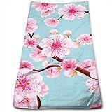 N/Q Handtücher Rosa Kirschblüte Super Absorbent Haartrockner Handtücher Mehrzwecktücher für...