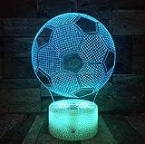 3D Fußball Fußball Lampe Optische Täuschung Nachtlicht Für Raumdekor Kinderzimmer Coole...