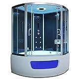 Home Deluxe - Exclusio - Dampfsauna - Mae: 130 x 130 x 215 cm - Whirlpool - Inkl. komplettem Zubehr